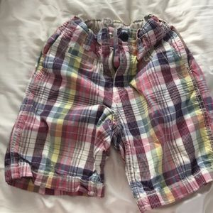 Gap kids size 7 plaid shorts